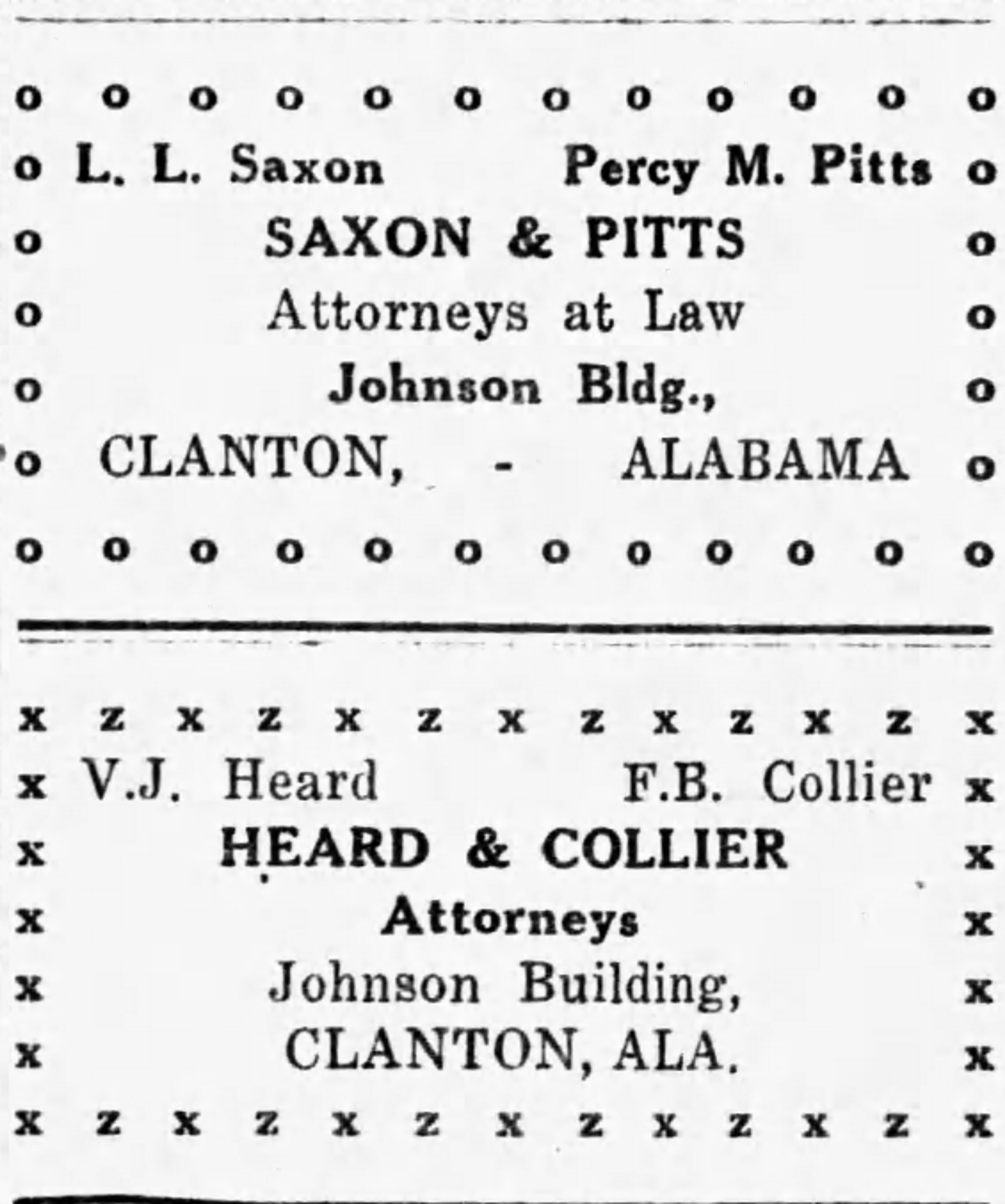 Patron – In Chilton County 1921, bridges were being closed and the women had meetings
