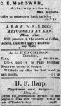 Patron – Troops return, a wife leaves with another man, and Sheriff's sale in Elba May 1901