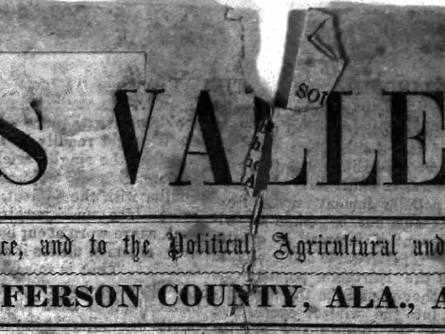 PATRON – Personal and local news from around Jones Valley and Elyton April 1, 1854