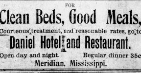 Patron – House, plantation and hogs for sale, plus personals from Sumterville, Ala. April 11, 1907