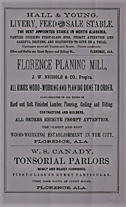 PATRON- Florence, Alabama Advertisements from 1888