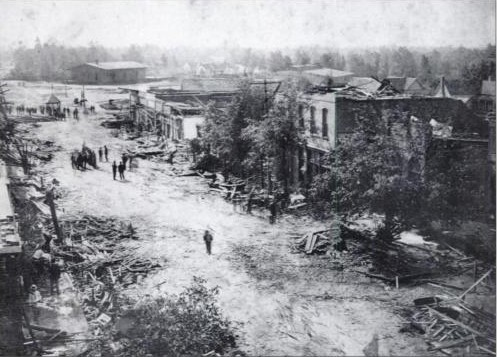 Albertville, Alabama was hit by a tornado on April 24, 1908 and ironically April 24, 2010