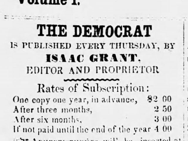 Alabama Convention proceedings and members of the Democratic and Anti-Know-Nothing Party in 1856