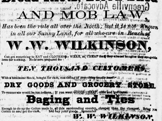 PATRON –  Mrs. Graham's obituary, a dreadful accident, and Administrators' sales in Greenville in 1878