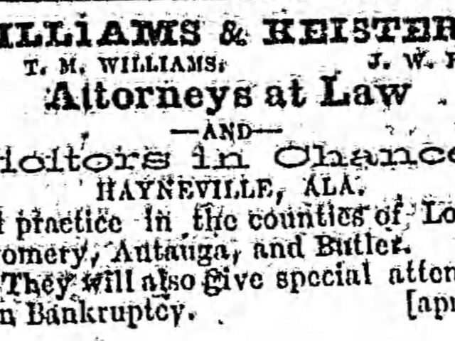 PATRON – Interesting corrected story from Hayneville, May 31, 1871