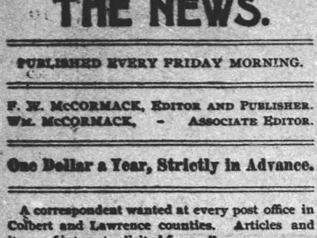 PATRON – Officers and local news from Colbert County, and Tuscumbia Feb. 9, 1894