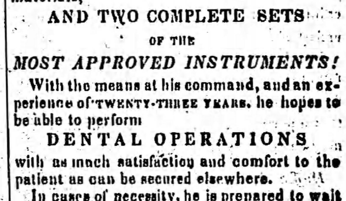 PATRON – Legal notices of  White, Smith, Wilson, Johnson, & McLaughlin December 1865 in Perry County