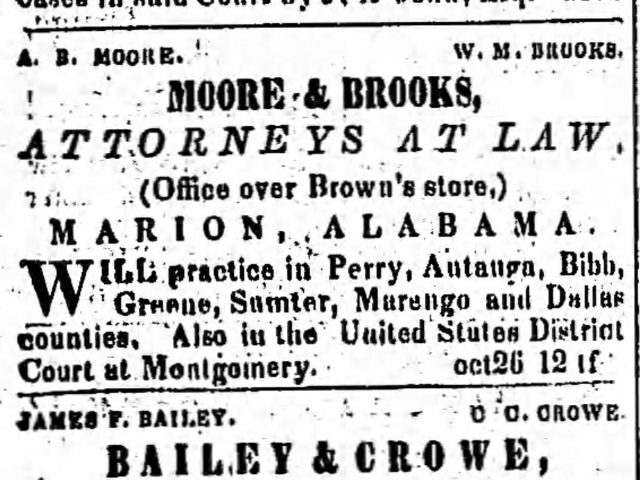PATRON –  Nall, Jones, Gouldman and Richardson estates in Perry County, Ala. 1865