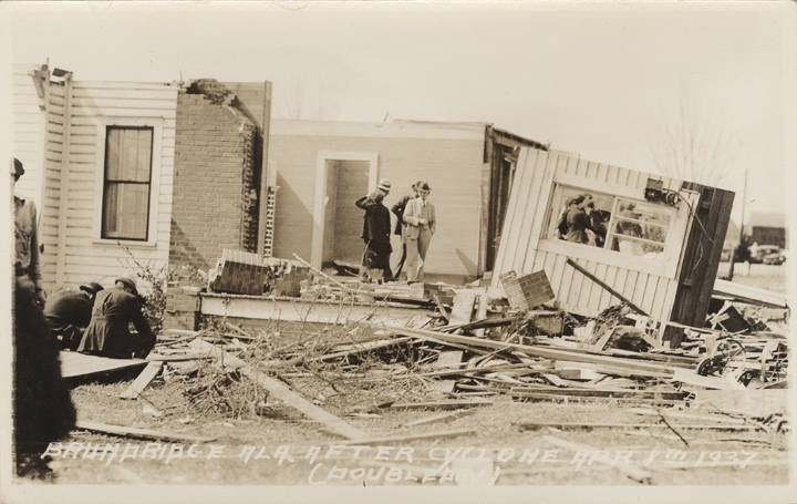 PATRON + Brundidge, Alabama was nearly leveled by a tornado April 8, 1937
