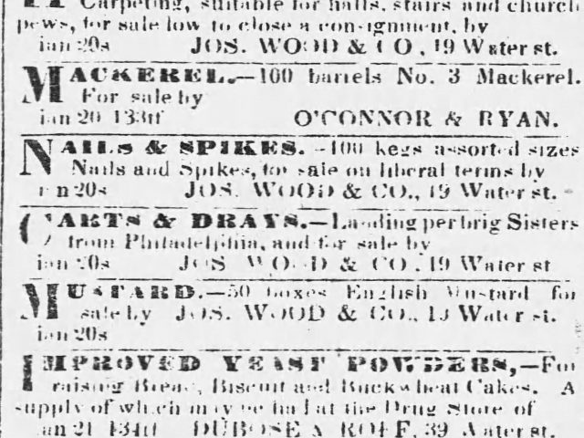 PATRON – Mobile County March 1840- Slaves listed as runaways in jail
