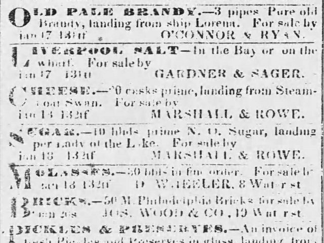 PATRON – Sheriff sale of lands owned by Cowan, Seaman, Green, Post, and many others in Mobile 1840