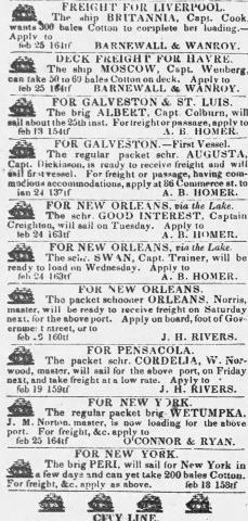 PATRON – Names of Insurance agents, Lawyers and Court Notice in Mobile in 1840