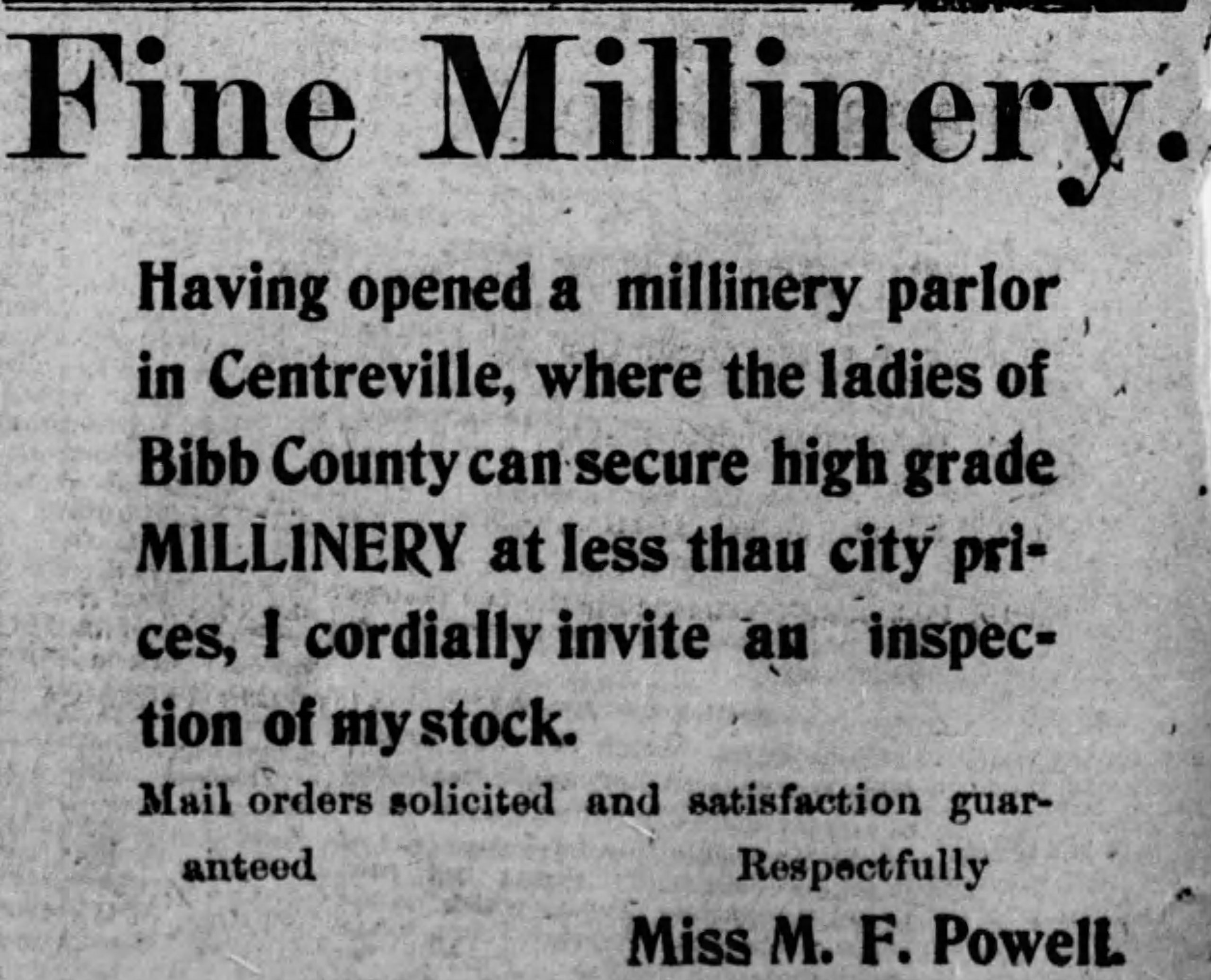 PATRON – BIBB COUNTY, Local news and official list of candidates April 1900