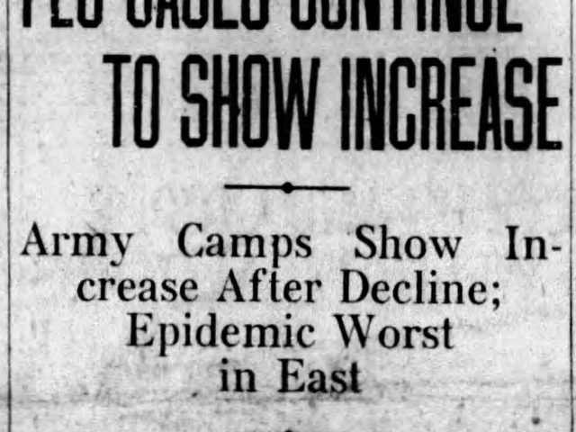 Report from Washington, D. C., October 19, 1918, on Pandemic