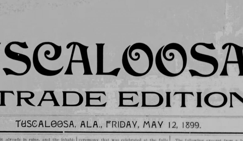PATRON + 1899 News clipping about Tuscaloosa, Alabama citizen T. B. Allen