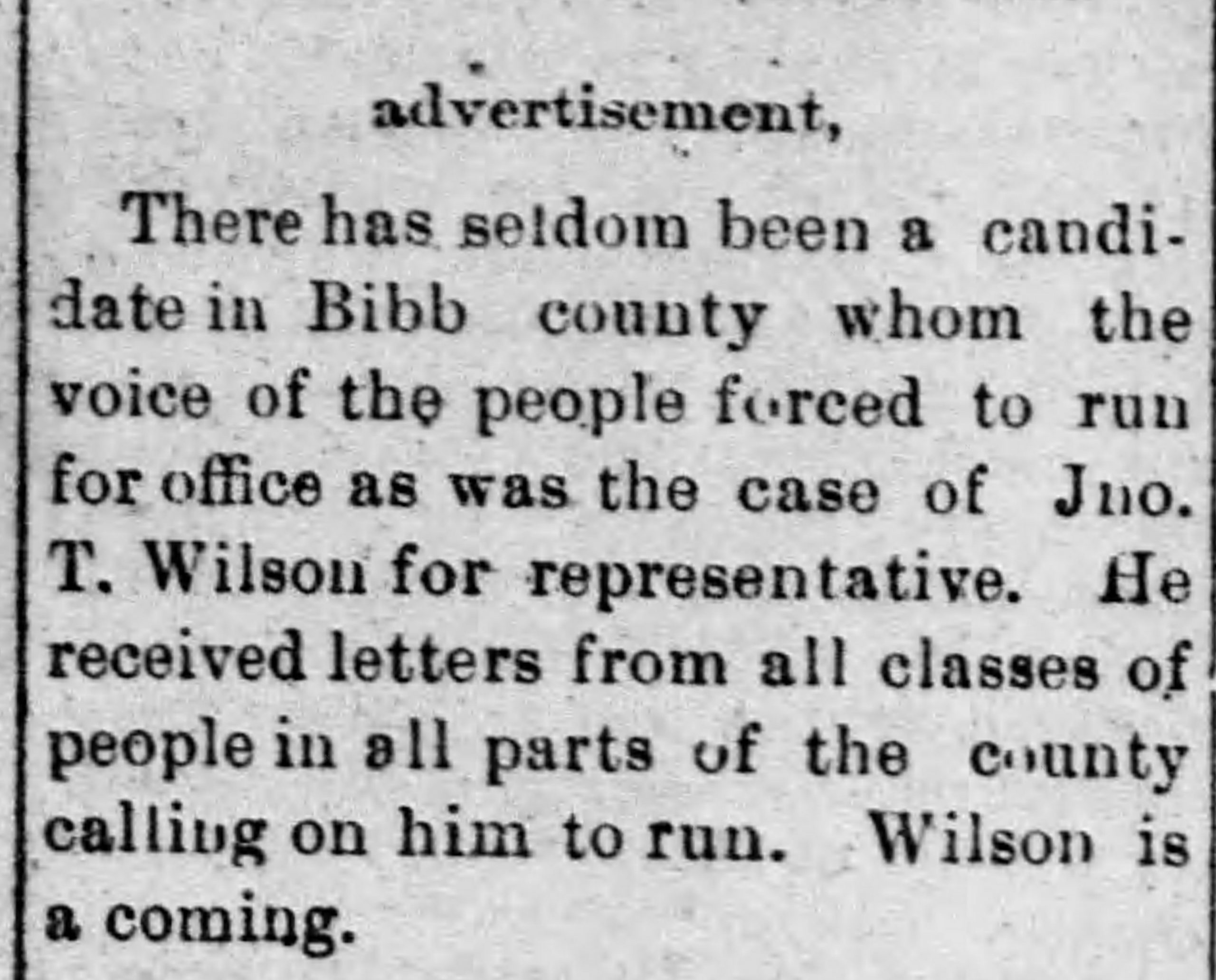 PATRON - Local News and Names of Donors to the Methodist Parsonage in Centreville, Alabama April 1900