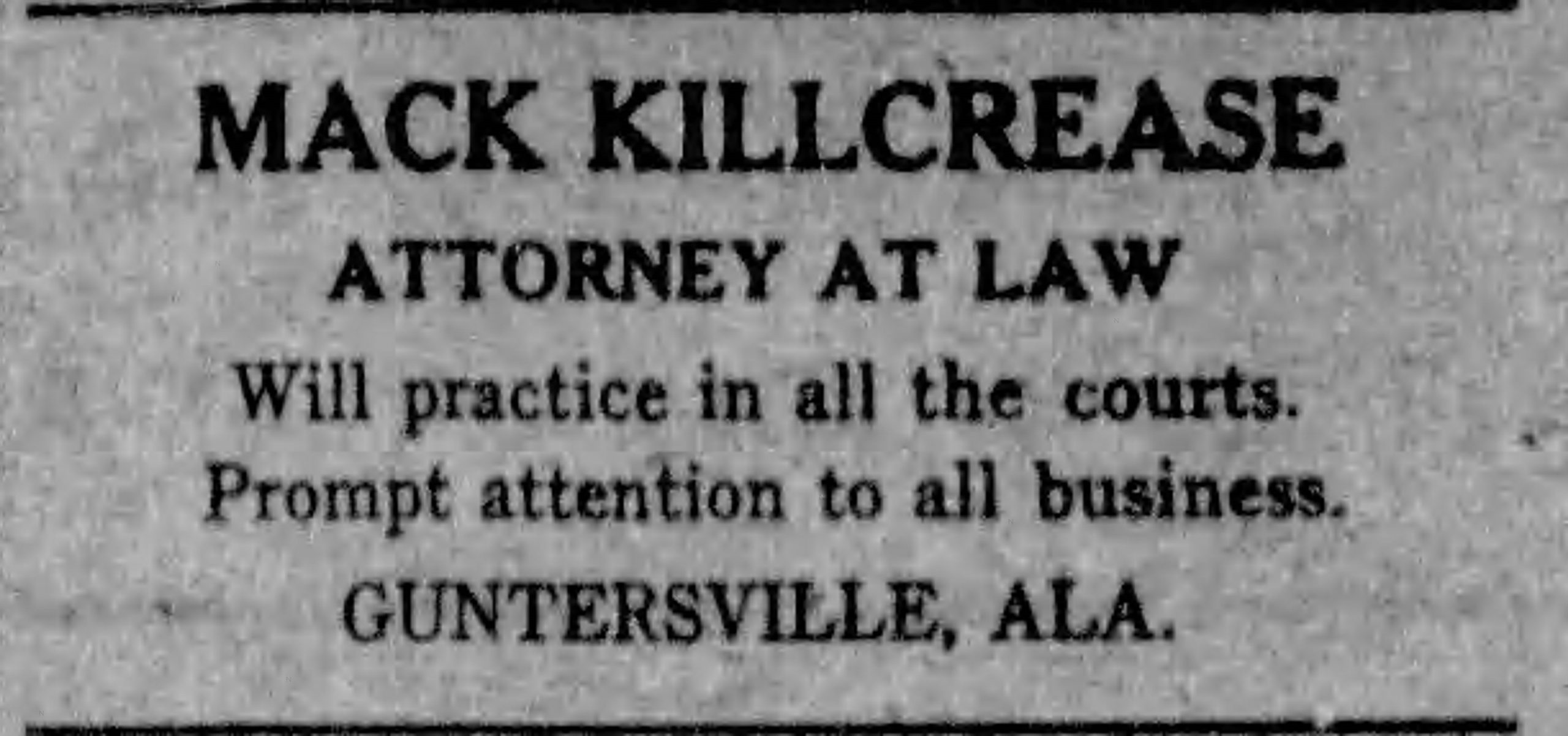 PATRON – Kellett-Gilbreath nuptials and reopening of Agricultural and City schools were in the local news in Albertville, Alabama in January 1903.