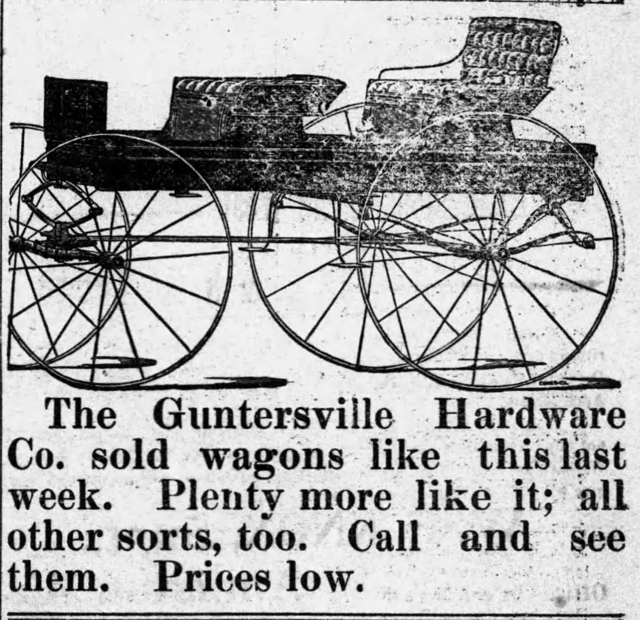 PATRON – Cottonville, New Hope, and High Point, Alabama – many citizens in local news Jan. 1903