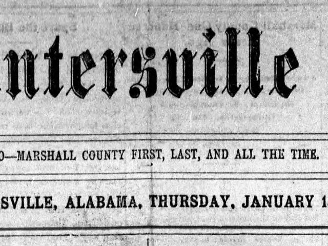 PATRON – Frozen mink captured, 61 applied for Teacher's exam and visitors in Guntersville local news 1903