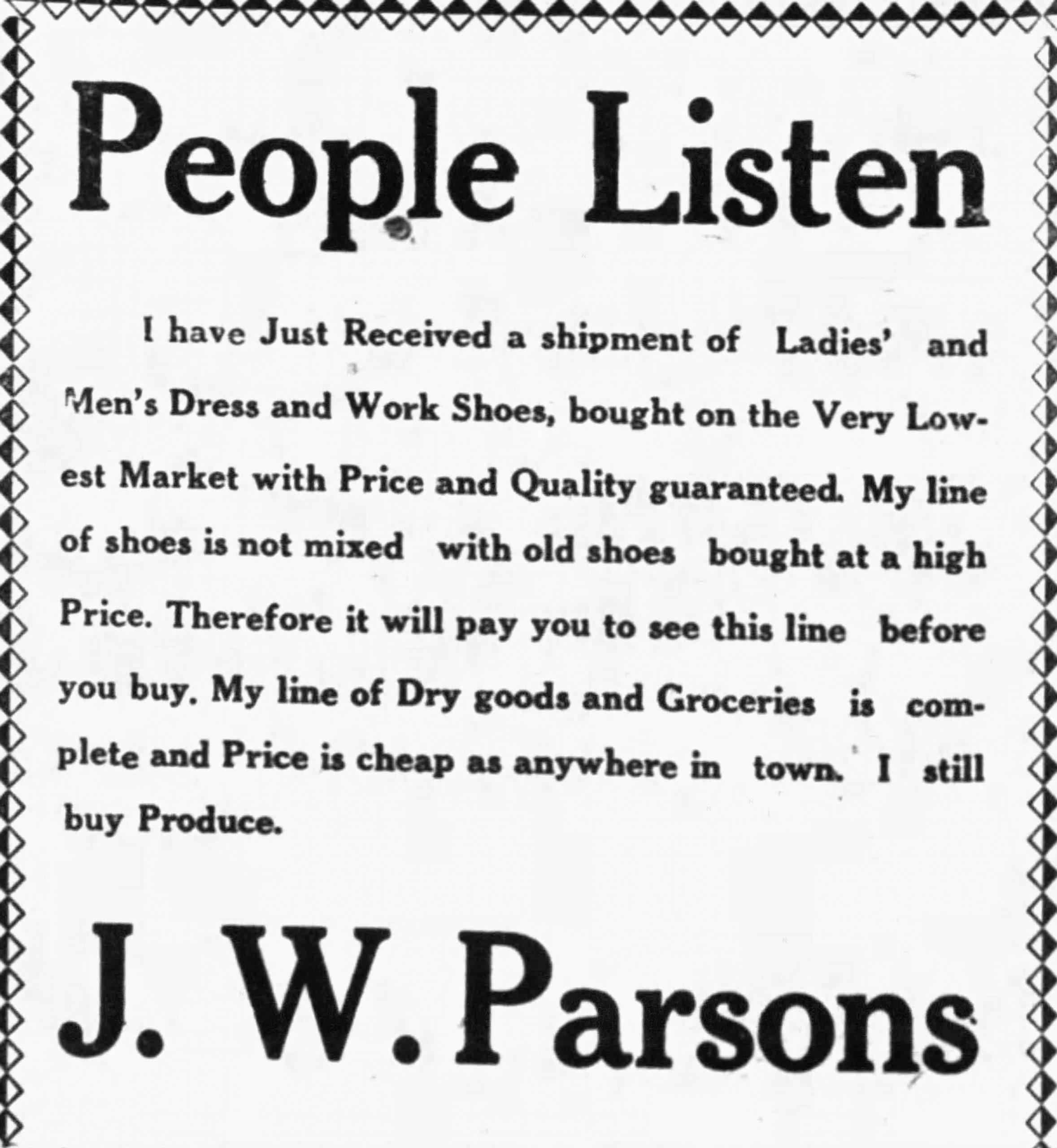 MONDAY MUSINGS: From Editor B. W. Sims - The Ashland Progress 1921