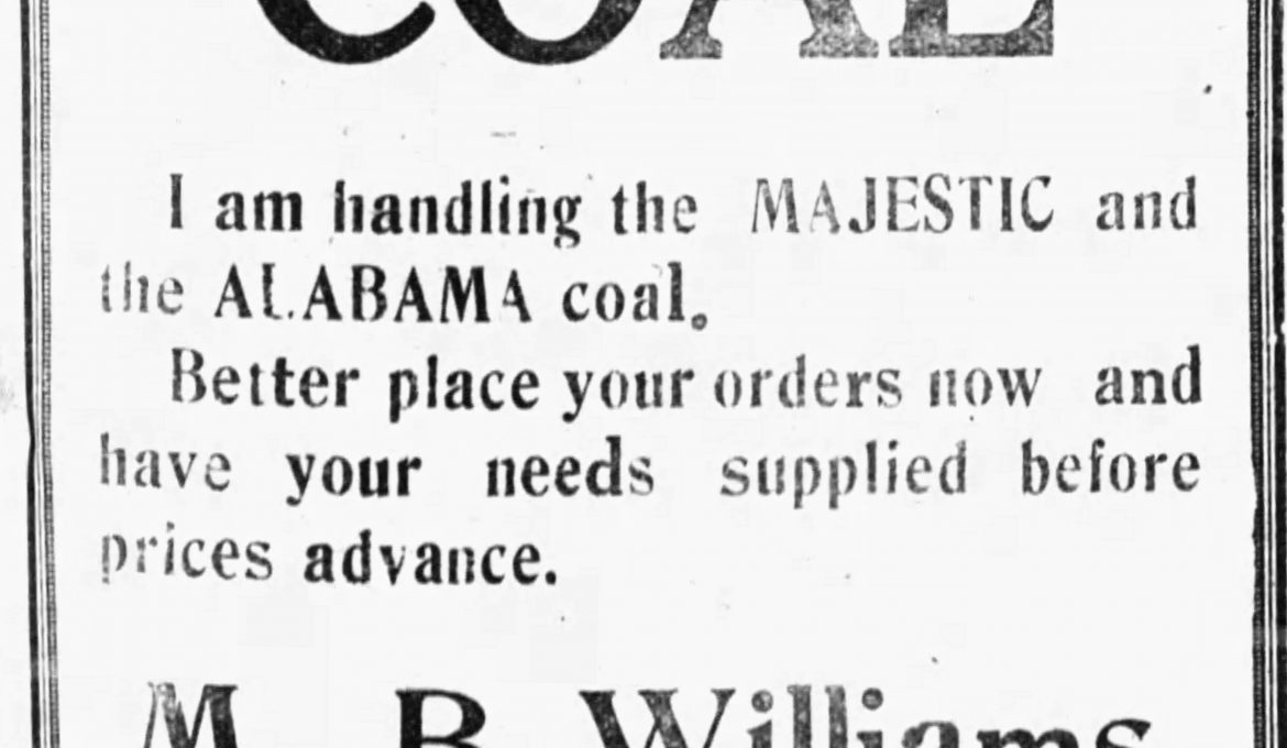 News clipping 1921 – Local and Personal genealogy news 1921, Clay County, Alabama Part I