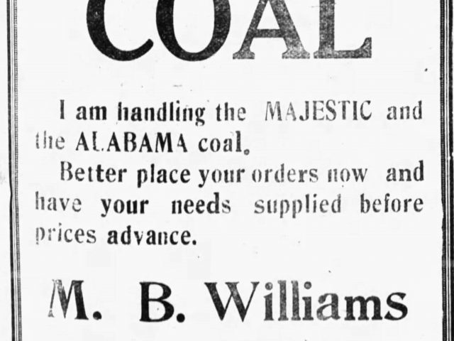 PATRON – News clipping 1921 – Local and Personal genealogy news, Clay County, Alabama Part I