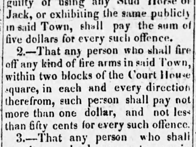 1858 News clipping of Code of Corporation of the Town of Moulton, Lawrence County, Alabama