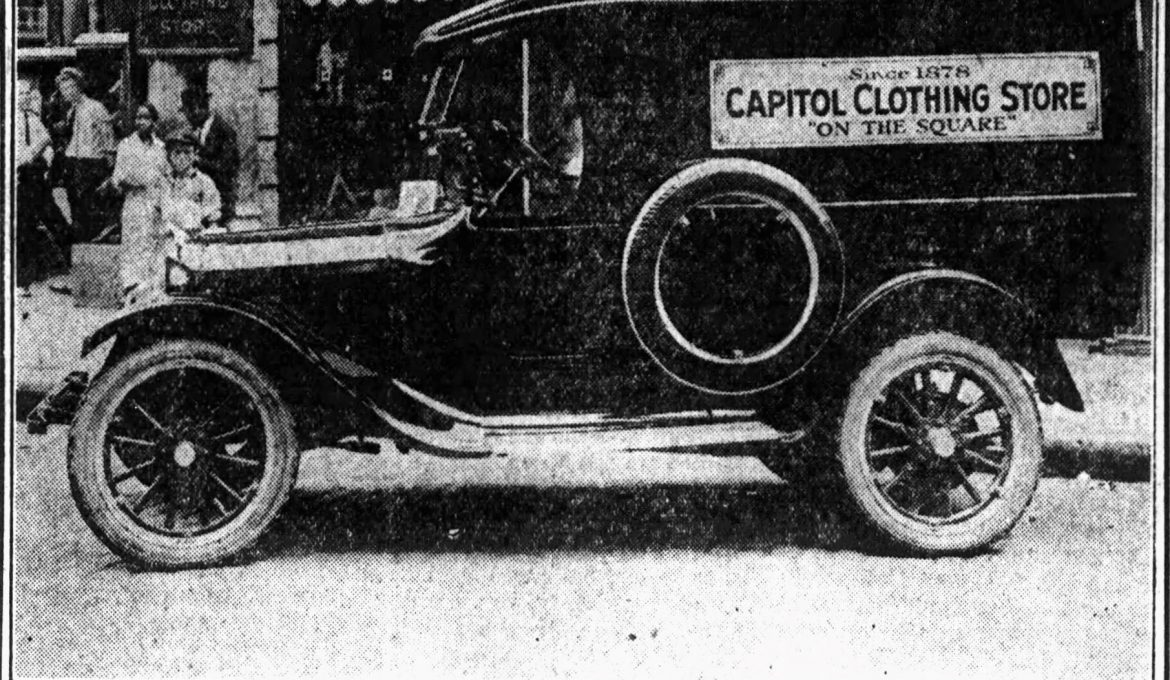 GOOD OLE DAYS – 100 yrs ago – Lime cola 5 cents, $525 for a touring car & business cars