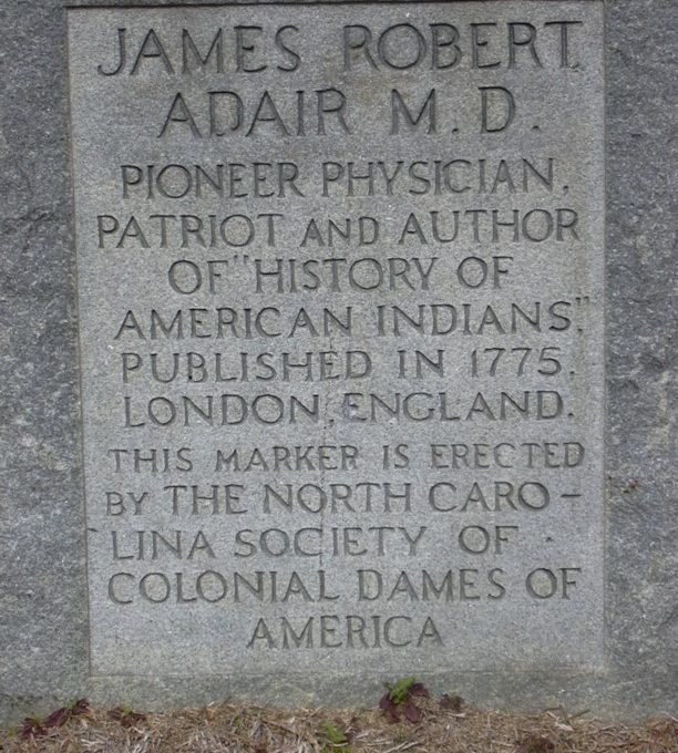 UPDATED – James Adair was born 1709 in the Alabama Indian Nation